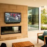 Alexan Atlanta Pool Outdoor Seating Fireplace and Television monitor
